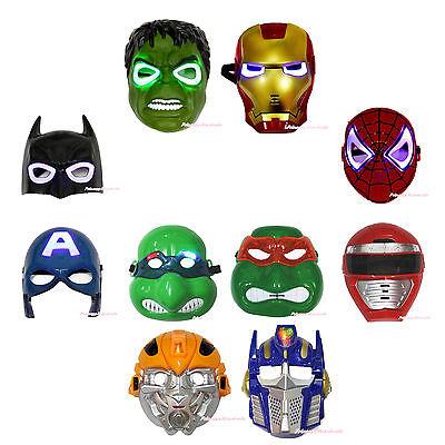 Halloween Super Hero Avenger LED LIGHT UP MASK Party Costume Cosplay Child Toy