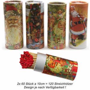 XL Streichhölzer 10-30cm lang Zündhölzer Köcher Weihnachten 120-180 Stück