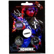 OFFICIAL LICENSED - TONY IOMMI - 5 BADGE PACK ROCK METAL BLACK SABBATH