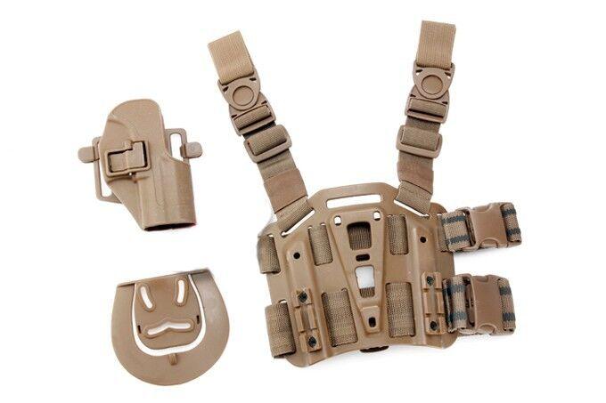 USP RH Pistol Paddle & Belt Drop Leg Holster Tan