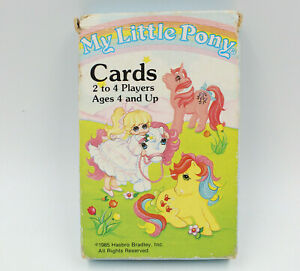 My Little Pony Cards Complete VTG 80s MLP Hasbro Bradley Game, West Germany RARE