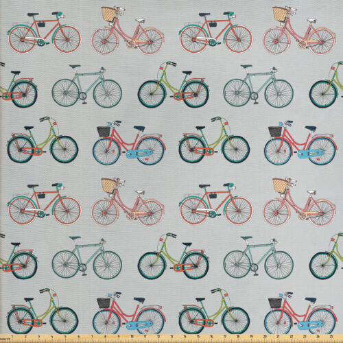 Hipster Stoff als Meterware Skizzieren Sie Spaß Fahrräder