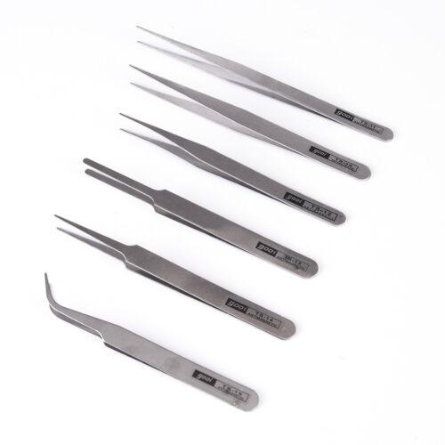ensemble de pinces de précision 6x tout usage kit anti-statique inox FR