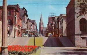 LA-CROSSE-WI-1957-Main-Street-Looking-East-St-Joseph-039-s-Cathedral-in-Distance-483