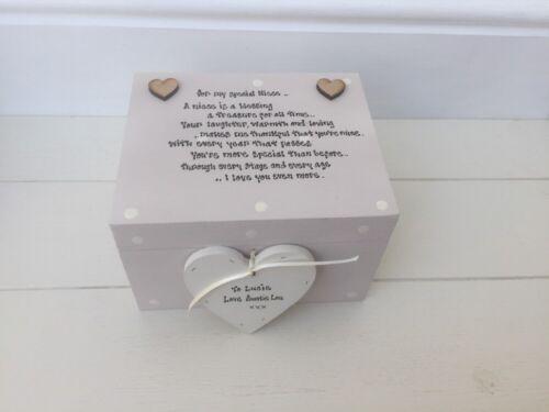 Shabby Personalised Chic Special Best Niece Keepsake Gift Box Present Birthday