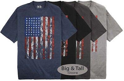 NewportXL Big & Tall Printed T-Shirt LARGE AMERICAN FLAG 3XL - 7XL 2XLT - 6XLT