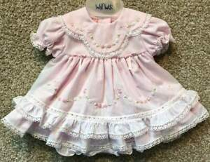 Will-039-beth-Newborn-Baby-Girl-Fancy-Frilly-Pink-Dress-Layers-Lace-Portraits-Dolls