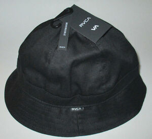 Image is loading MENS-RVCA-REVERSIBLE-BLACK-BLUE-BUCKET-HAT-ONE- 2ffc7fabf3a