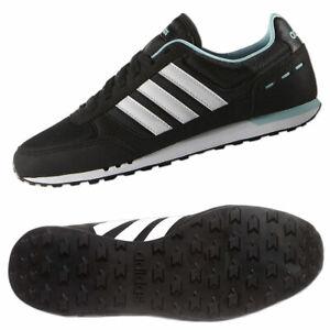 Details zu adidas Damen Schuhe Neo Sneaker City Racer Freizeit Sportschuhe schwarz weiß bl