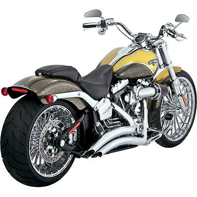 "Vance & Hines Chrome 2-1/2"" Big Radius Exhaust 2013-15 Harley Softail Breakout"