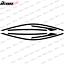 thumbnail 4 - Fits 16-20 Honda Civic Sedan Window Trim Chrome Delete Vinyl - Gloss Black