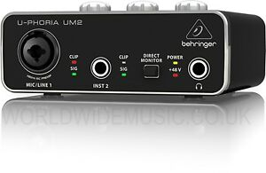 Behringer-U-PHORIA-UM2-Audiophile-2x2-USB-Audio-Interface-with-XENYX-Mic-Preamp