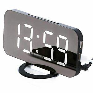 1X-Reveil-Numerique-Horloge-Led-elegante-Avec-Le-Port-Usb-Un-Grand-ecran-2E