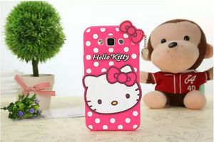 766c3b53b 2018 3D Hello Kitty Bow Soft Silicone Phone Case Cover For iPhone X ...