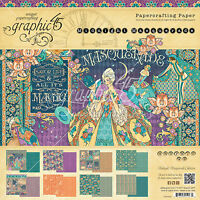 Graphic45 Midnight Masquerade 8x8 Paper Pad Scrapbooking 24 Sheets