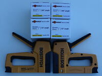 Bostitch T6-8 Hd Tacker, 2 Ea & 4 Boxes Of Staples, T6-8 Tacker