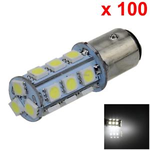 100x White Car 1157 Brake Light Backup Blub 18 5050 SMD LED 2357 2397 E004