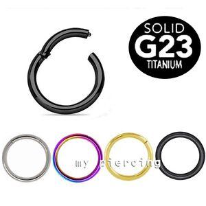 Einfach G23 Titan Nahtlos Klappbar Segment Ring Nase Reifen Ohren Knorpel Lippenscheibe