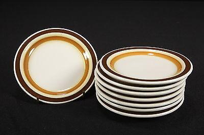 NOS 1970's Restaurant Ware Buffalo China 8 Bread & Butter Plates Bunker Hill