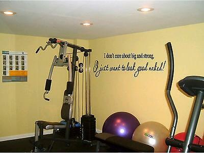 Look Good Naked Fitness Gym Motivational Wall Quote Workout Vinyl Decal Ebay