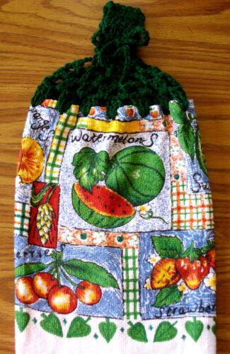 Crochet top Kitchen Dish Towels   #t266 Fruits Strawberries Watermellon