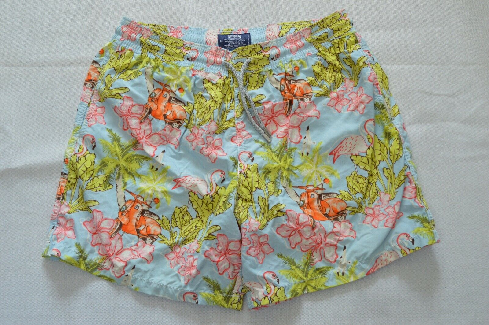 Vilebrequin Flamingo Hippy Floral Multicolour Swimming Shorts Trunks XL