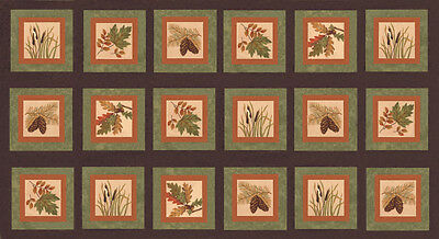 AUTUMN REFLECTIONS Fabric Blocks Panel //// Moda Fabric Squares by Holly Taylor