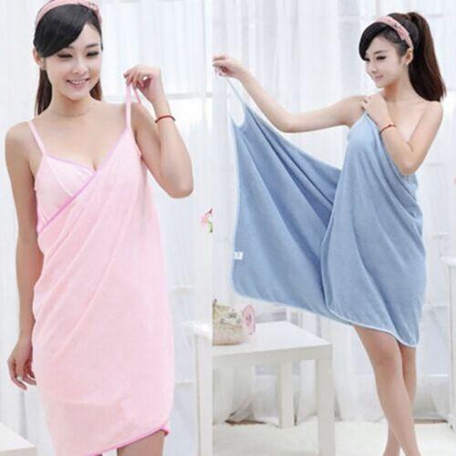 Women Fast Drying Wearable Bath Towel Shower Bath SPA Wrap Body Beach Bathrobe H