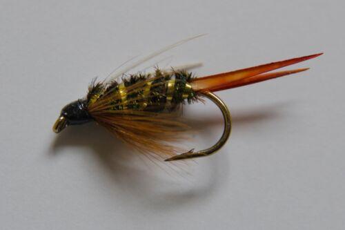Prince nymphe truites mouches diverses options en libellules