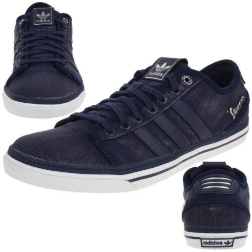 Adidas Original Vespa Gs LO mens trainers toile Dark Indigo shoes