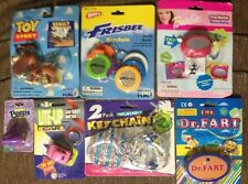 Lot 7 Keychains Frisbee Toy Story Slinky Dog Dr Fart Lite Up Car Peeps Barbie