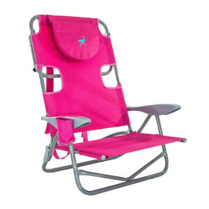 Ostrich-On-Your-Back-Outdoor-Lounge-5-Position-Reclining-Beach-Lake-Chair-Pink