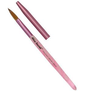 Mia-Secret-Professional-Nail-System-Oval-Kolinsky-Nail-Brush-Pink