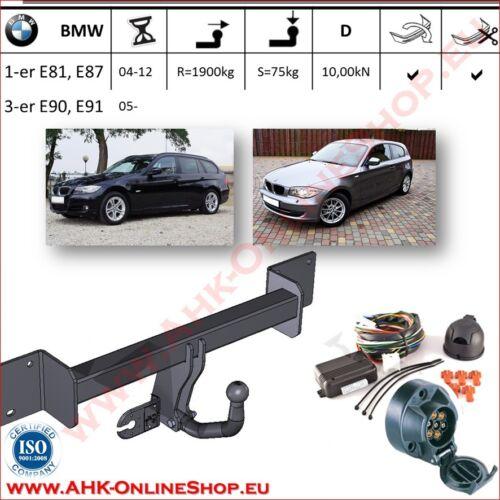 AHK ES7 BMW 1er E81 E82 E87 Bj.2004-2011 Anhängevorrichtung Anhängerkupplung NEU
