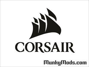Corsair-034-Sail-034-Logo-Computer-PC-Case-Window-Applique-Vinyl-Decal-Color-Choices