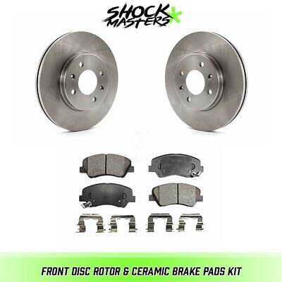 2015 2016 2017 for Hyundai Accent Disc Brake Rotors and Ceramic Pads Front