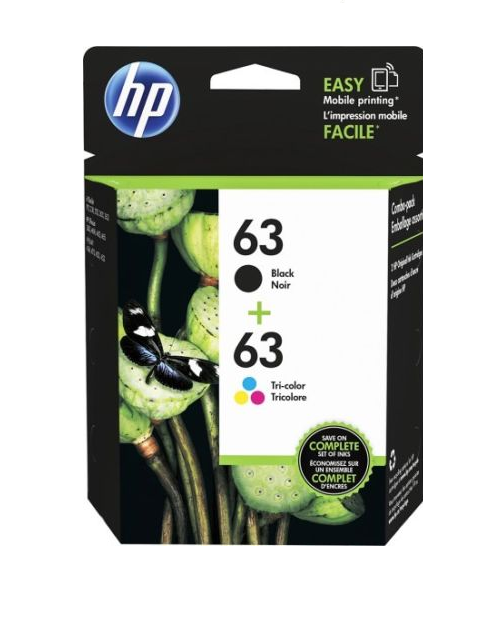 HP Genuine 63 B/C COMBO (in Box) In Date Exp 2019 HP ENVY 4512, 4513, 4520, 4523
