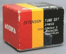 Contax S Pentacon Praktiflex EXTENSION TUBE Set of 3 Rings MACRO