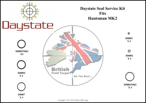 Full Premium Seal Service Kit Fits DAYSTATE Huntsman Mk2 nouveau