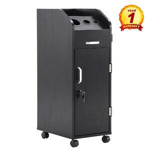 Salon-Trolley-Storage-Cart-Hairdressing-Tool-Holding-Wheel-Box-Black