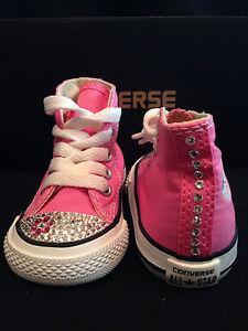Image is loading Custom-Pink-Converse-All-Star-Infant-Toddler-Hi- c51005dec1ec
