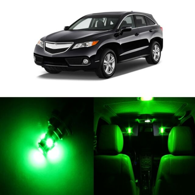 13 X Green LED Interior Lights Package Kit For Acura RDX