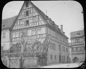 Glass-Magic-lantern-slide-ROTHENBURG-NO14-C1910-BAVARIA-GERMANY
