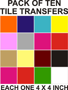"""4"""" Tile transfers stickers 10,20,30,40,50<wbr/>,100,200, your choice of colours"""