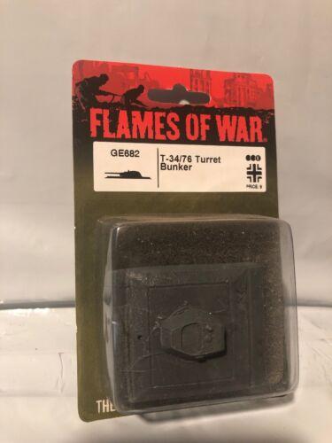 FLAMES OF WAR T-34//76 Turret Bunker GE682