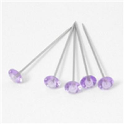 """100 Light Purple Diamante Diamonte pins Wedding, Buttonholes Bouquet 4cm - 1.5"""""""