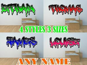 PERSONALISED-GRAFFITI-NAME-WALL-ART-DECAL-sticker-boys-GIRLS-BEDROOM-transfer-1