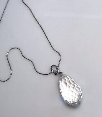 Faceted rock crystal quartz necklace.