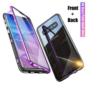 For-Samsung-Galaxy-S10-Plus-Magnetic-Adsorption-Full-Tempered-Glass-Case-Cover