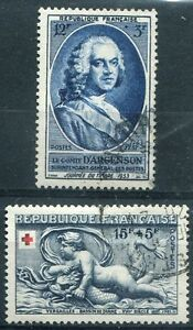 Timbre-Stamp-France-N-938-940-Obliteres-1952-53-TTB-Cote-10